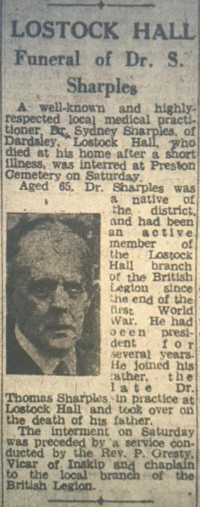 Dr Sharples - 17 April 1948